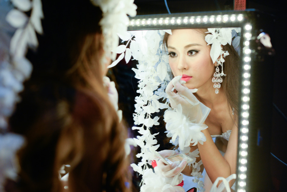 Backstage of Miss Universe China 2014 Shanghai Lingerie