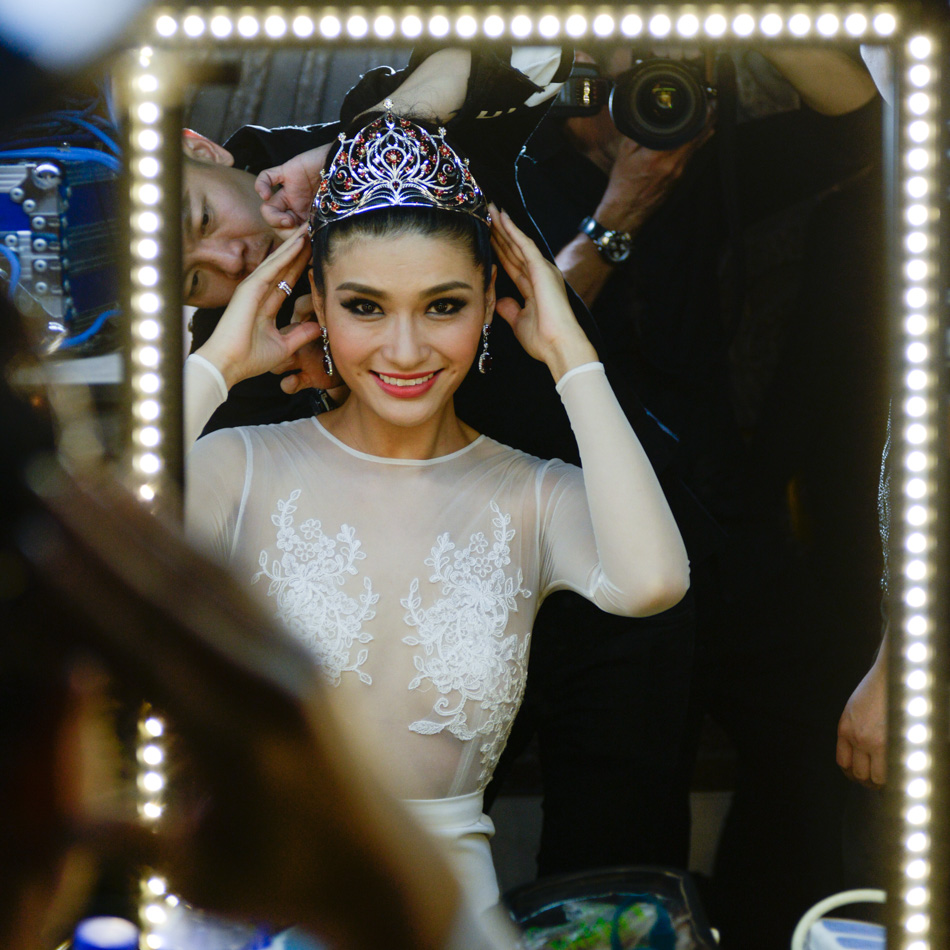 Backstage of Miss Universe China 2014 Shanghai Lingerie-65