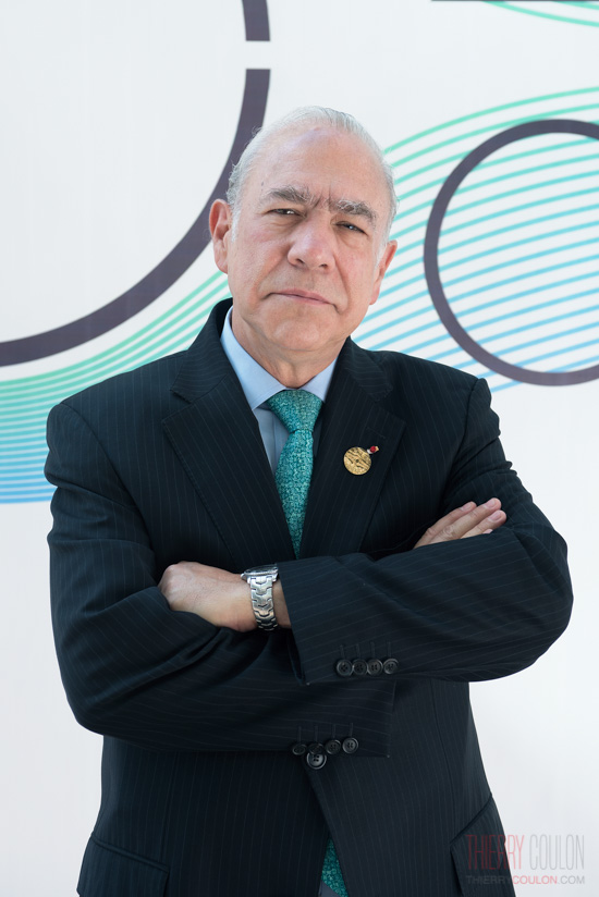 Portrait of Angel Gurria Secretary General of OCDE for Le Monde G20 Hangzhou Thierry Coulon Photographer Shanghai