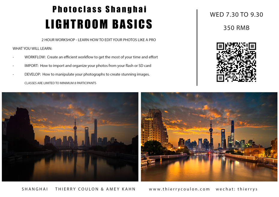 Shanghai Workshop Photography Classes Photoshop Lightroom